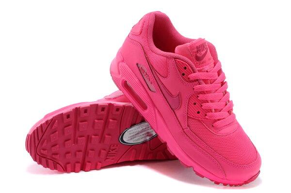 NIKE/耐克NIKE AIR MAX 90 騷粉色氣墊女生慢跑鞋345017-601(騷粉色36-39)