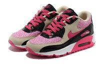 慢跑_路跑周邊商品推薦到NIKE/耐克NIKE AIR MAX 90 女生氣墊慢跑鞋 運動休閒鞋(米黃黑紅36-40)