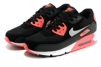 NIKE/耐克 AIR MAX 90 情侶氣墊慢跑鞋 運動休閒鞋(黑紅36-44)
