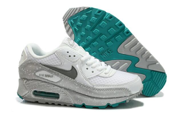NIKE/耐克 AIR MAX 90 女生氣墊慢跑鞋 運動休閒鞋(銀白色36-39)