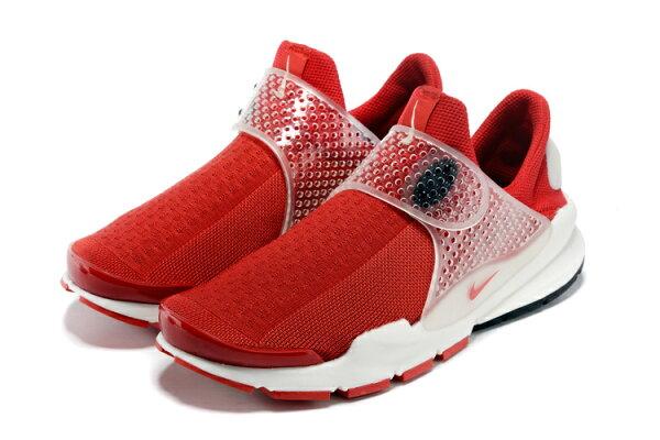 藤原浩紅白 Fragment x Nike Sock Dart 耐克王三代 紅白 男女情侶鞋