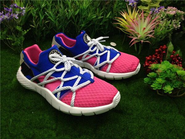 2015新版華萊士二代Nike Huarache NM Dynamic Pink/Game Royal 粉紅白 男女鞋情侶鞋