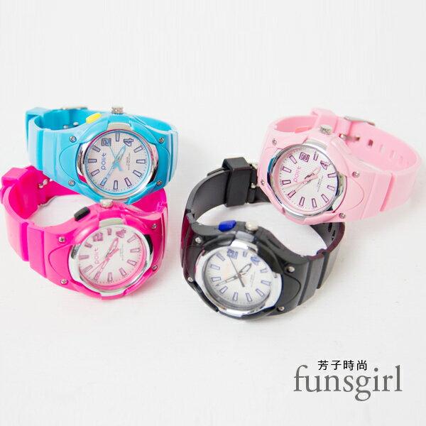 夜光功能閃爍燈矽膠運動型手錶-4色~funsgirl芳子時尚【B230051】