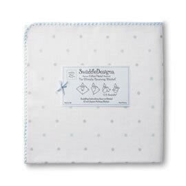 美國【Swaddle Designs】頂級多用途嬰兒包巾(點點淺藍) - 限時優惠好康折扣