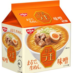 日本進口 日清拉王 生麵系列(整袋5包入) 快煮麵 泡麵 [JP369] 1
