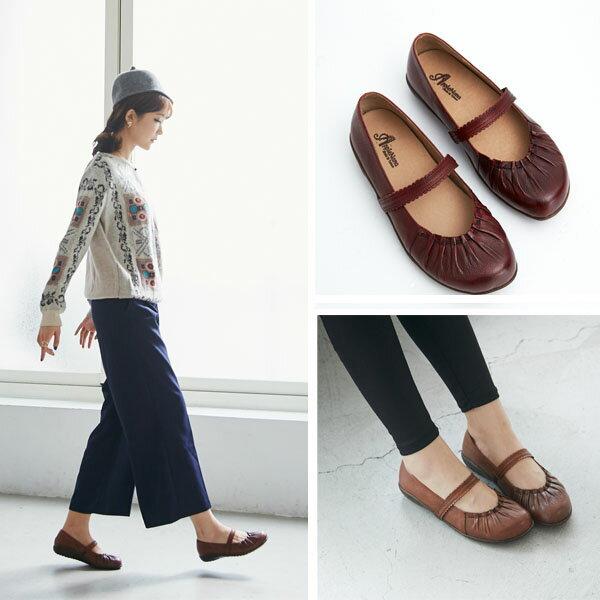 AppleNana。皮革蕾絲橫帶瑪莉珍寬口氣墊鞋。專利一體成型耐走墊【QR12281480】蘋果奈奈 3