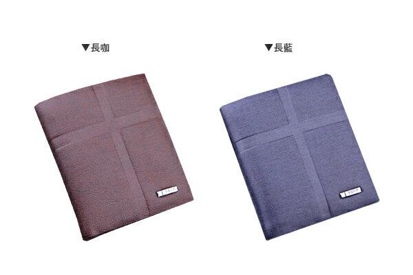 ☆BOY-2☆【NQA382】質感素面十字壓紋中短皮夾 2