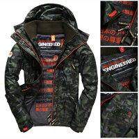 Superdry極度乾燥商品推薦[男款]英國名品代購 極度乾燥 Superdry Arctic Wind Attacke男士防水防風戶外休閒外套夾克風衣 迷彩綠