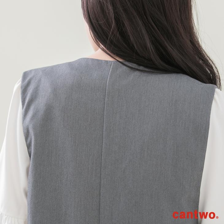 cantwo長版西裝背心(共二色) 5