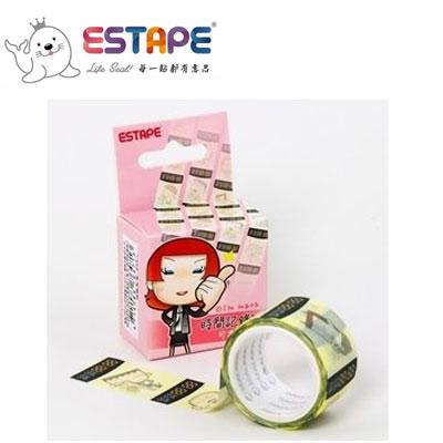 王佳膠帶 ESTAPE 馬克直拉式系列PM2537X時間記錄貼/ 盒