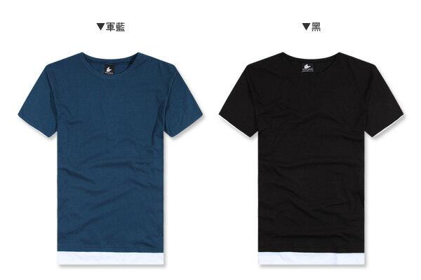 ☆BOY-2☆【KKL2020】韓版假兩件短袖五分T 2