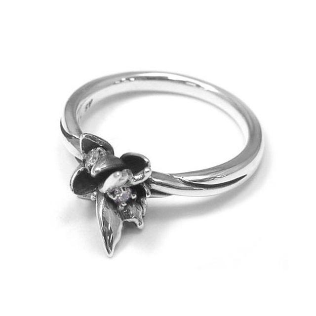 【海外訂購】【KONRON】花之回憶鑽石純銀戒指(KRR0544-D) 2