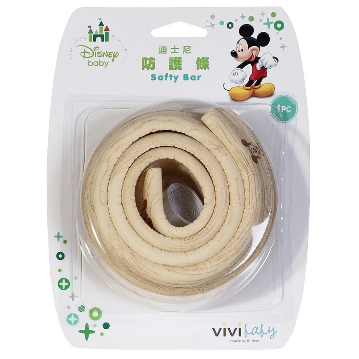 ViViBaby - Disney迪士尼迪士尼防護條-淺木紋 (迪士尼安全系列任三入加贈迪士尼防滑貼!) - 限時優惠好康折扣