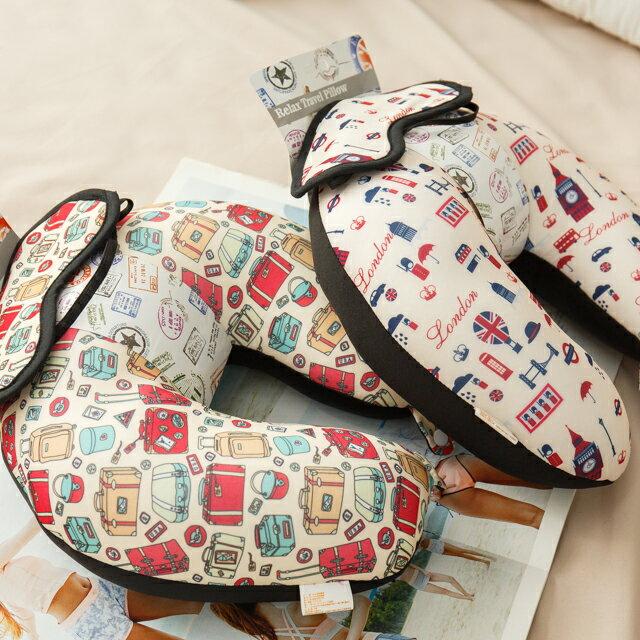 旅人眼罩+頸枕  紓壓/休息 便利實用   3色可選 1