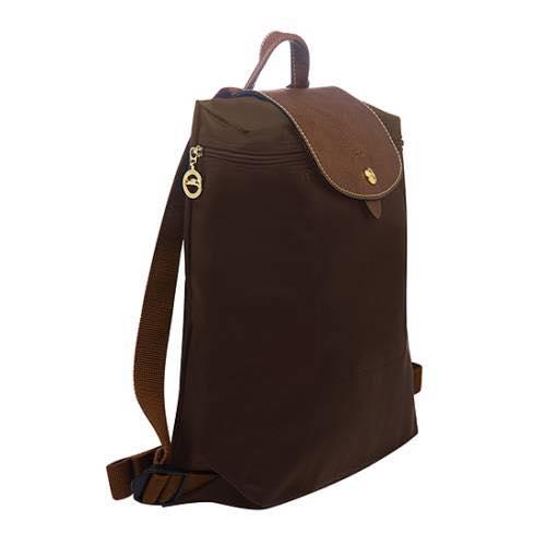 【LONGCHAMP】 LE PLIAGE 咖啡色折疊後背包 1