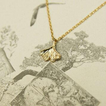 【秘密飾品】「窗外秋色」金色銀杏葉鎖骨鏈 (現+預)