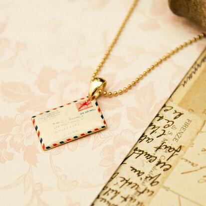 【秘密飾品】「遠距離愛戀」西式信封項鍊 (現+預)