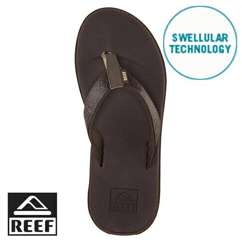 REEF纖細亮粉織帶印花鞋面人字拖