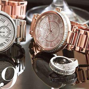 美國Outlet正品代購 MichaelKors MK 復古羅馬數字玫瑰金水鑽  陶瓷  三環 手錶 腕錶 MK5868 1