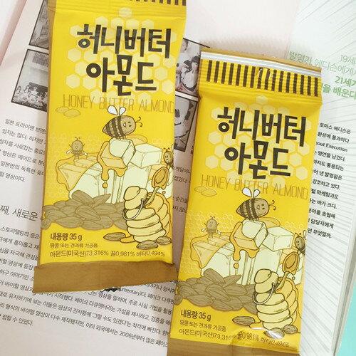有樂町進口食品 韓國熱賣 Toms Gilim 蜂蜜杏仁果 (小) 35g 蜂蜜奶油杏仁果 8809022200168