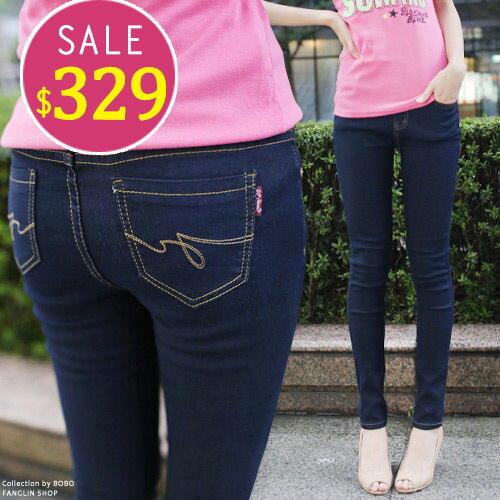 BOBO小中大尺碼【6925】中腰鬆緊內搭窄管褲-共3色S~5L - 限時優惠好康折扣