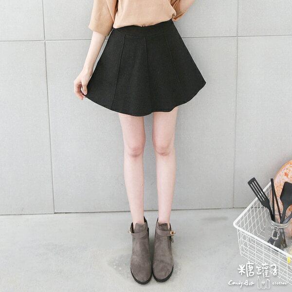 ★原價499五折250★糖罐子3D車線磨毛褲裙→預購【KK4882】 2