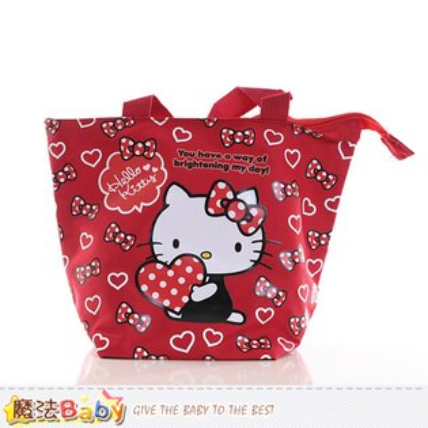 Hello Kitty授權正版餃型便當袋 魔法Baby~f0173