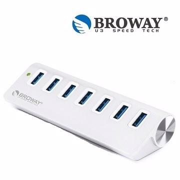 【普洛威 BROWAY】 USB 3.0 7埠 HUB集線器 晶鑽銀