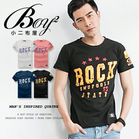 ☆BOY-2☆【NR35006】美式潮流ROCK斑駁短T 0