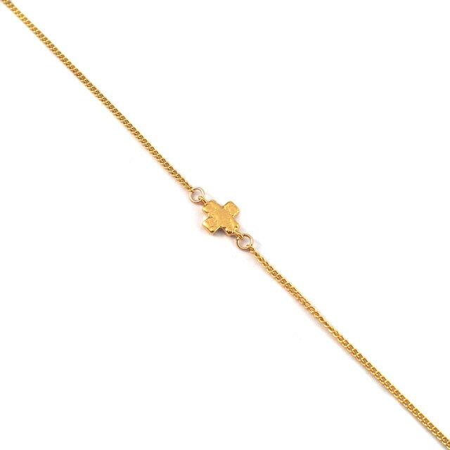 【現貨商品】【CHAN LUU】十字架鍍金純銀腳鍊(CL-AKG-1017YG  0663050000) 1