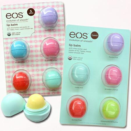 丁果 ★ eos天然有機護唇球 風靡歐美好萊塢 美國原裝進口  5入組包裝