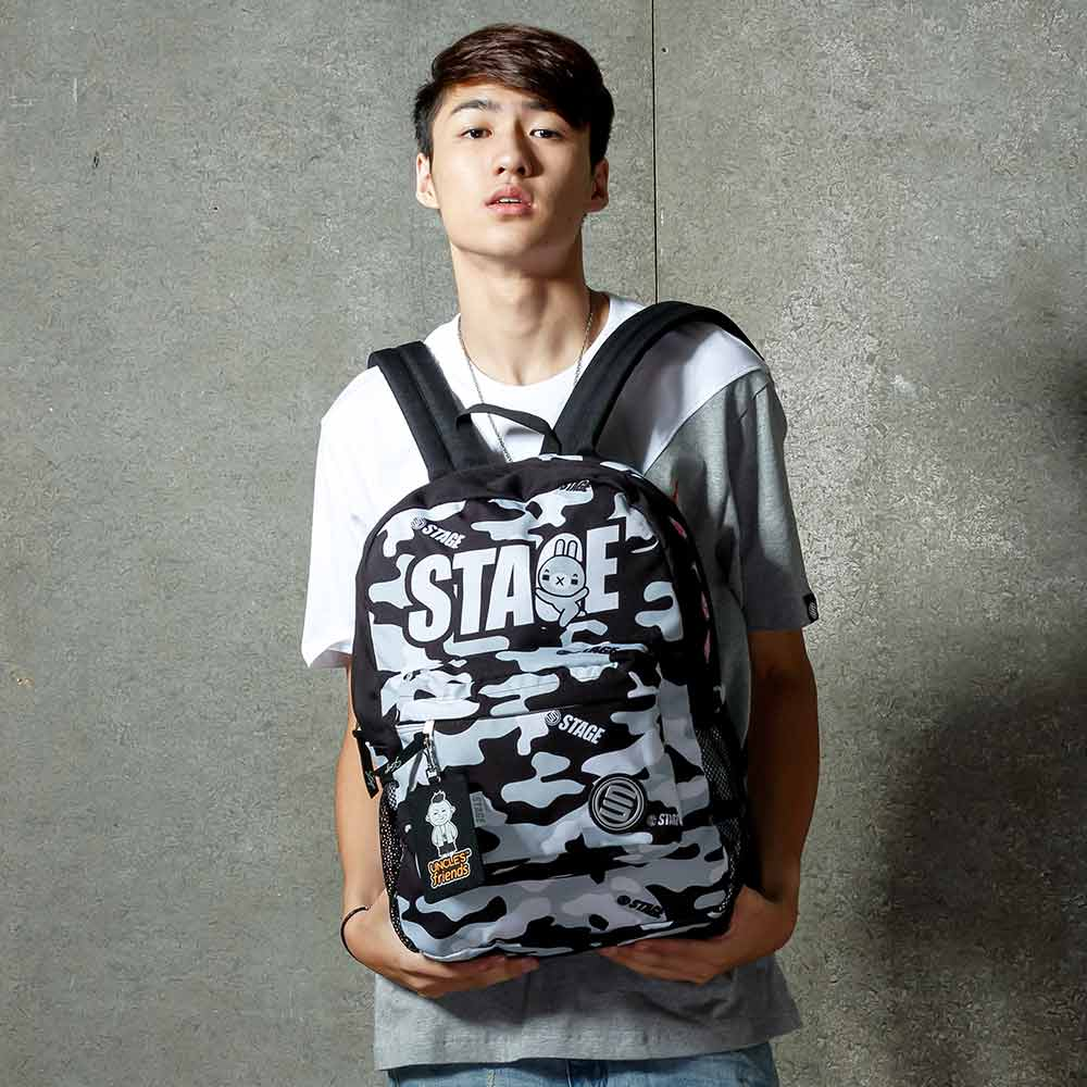 STAGE BAG × UNCLES FRIENDS GRAY BACKPACK 黑灰色 射手座 0