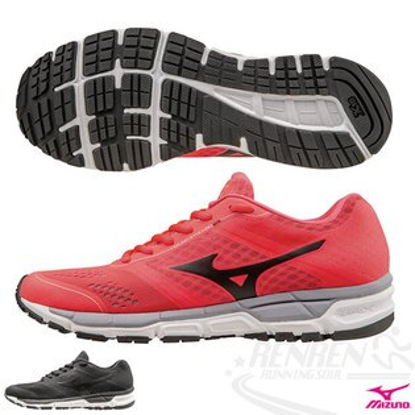 MIZUNO 美津濃  MIZUNO SYNCHRO MX(W) 女慢跑鞋(桃紅*黑) 翁滋蔓代言款