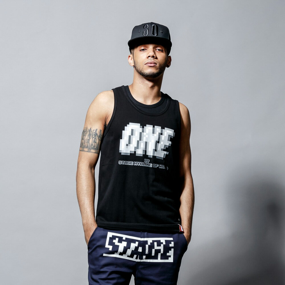 STAGEONE PIXELATE TANK TOP 黑色/白色 兩色 0