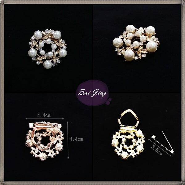 1650795【珍珠高雅】絲巾扣、別針