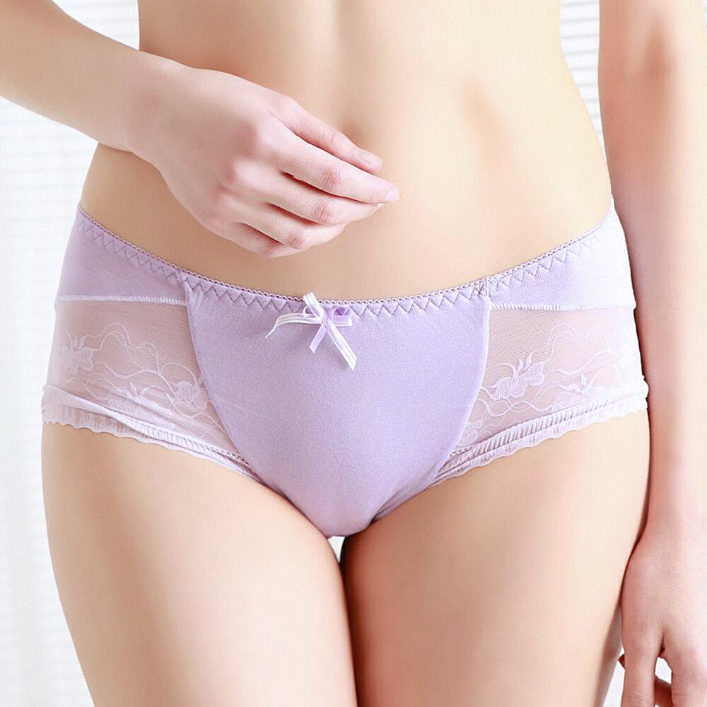 【依夢】蘆薈保濕呵護系列平口褲(淺紫) 0