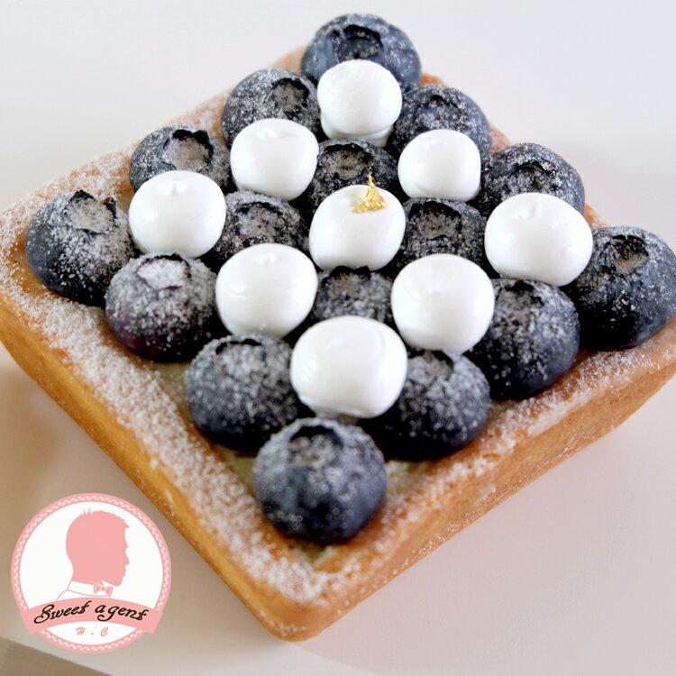 【甜點特務】[ 黑白棋盤藍莓塔 ] 新鮮藍莓+酥脆塔皮+香草卡士達 2