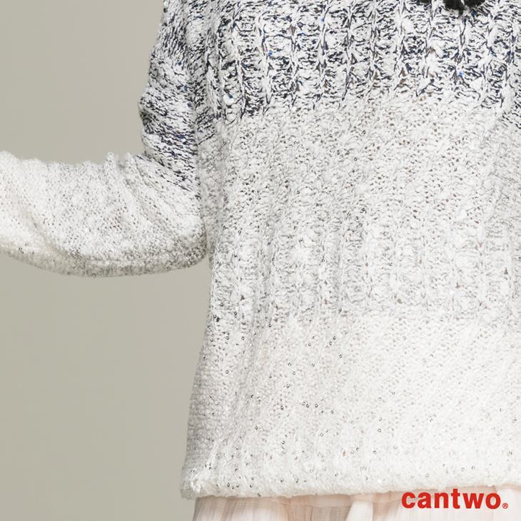 cantwo混色亮片針織上衣(共一色) 4