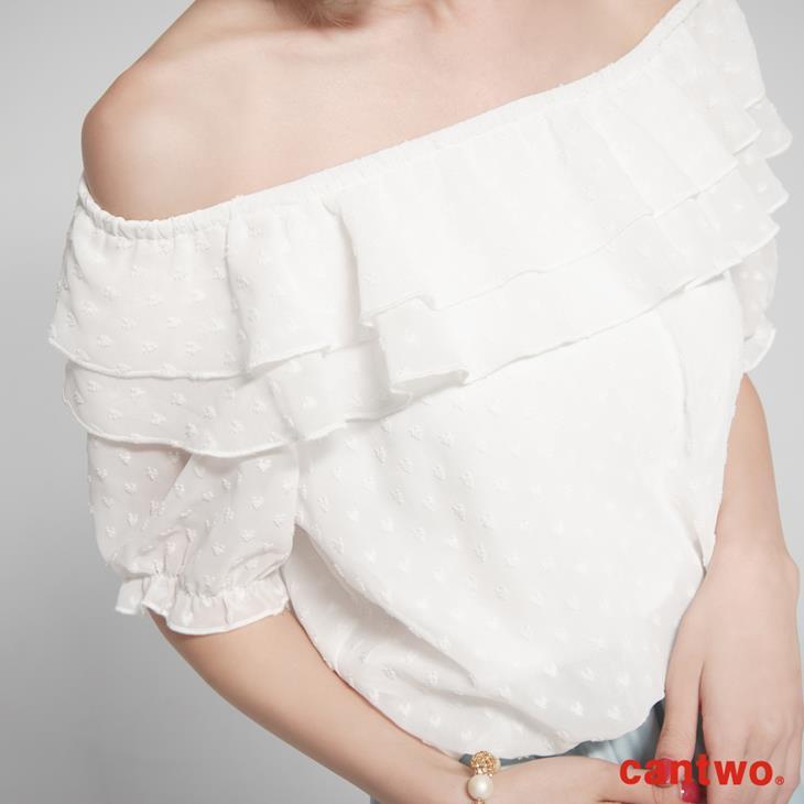 cantwo粉彩荷葉雪紡洋裝(共二色) 4