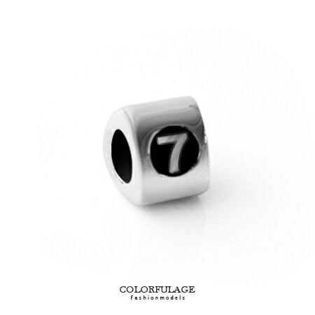組合字母串珠手鍊 手作搭配組合數字7手環 柒彩年代【NT5】CHARMS 0