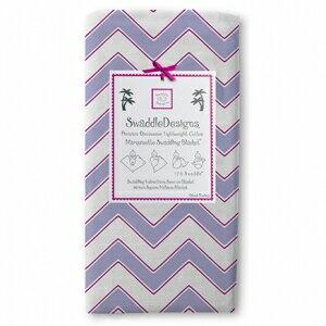 美國【Swaddle Designs】薄棉羅紗多用途嬰兒包巾 (山型紋紫) 0