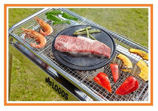 【露營趣】中和 日本 LOGOS LG81062181 遠紅外線燒烤圓盤 24.7cm 煎盤 烤盤 焚火台烤肉架瓦斯爐可用
