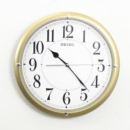 SEIKO精工掛鐘 耀眼時尚金色大數字設計時鐘 滑動式靜音秒針 柒彩年代【NG1718】原廠公司貨 0