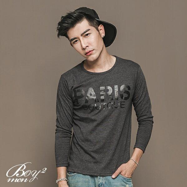 ☆BOY-2☆【NAL122】休閒PARIS印花長T恤 3