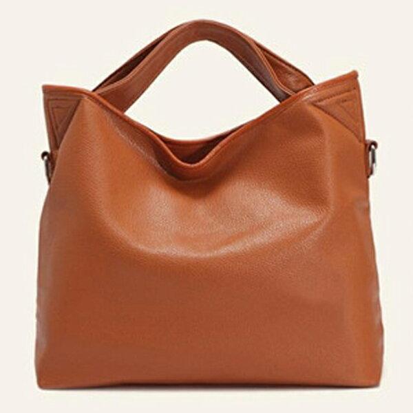 Anne&Alice 包包購~歐美潮新款仿小羊皮女包時尚純色手提包肩背包斜背包~