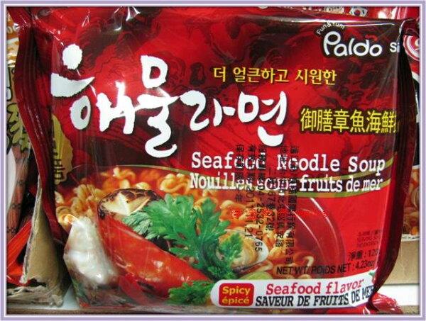 有樂町進口食品 韓國進口 八道-御膳海鮮章魚麵