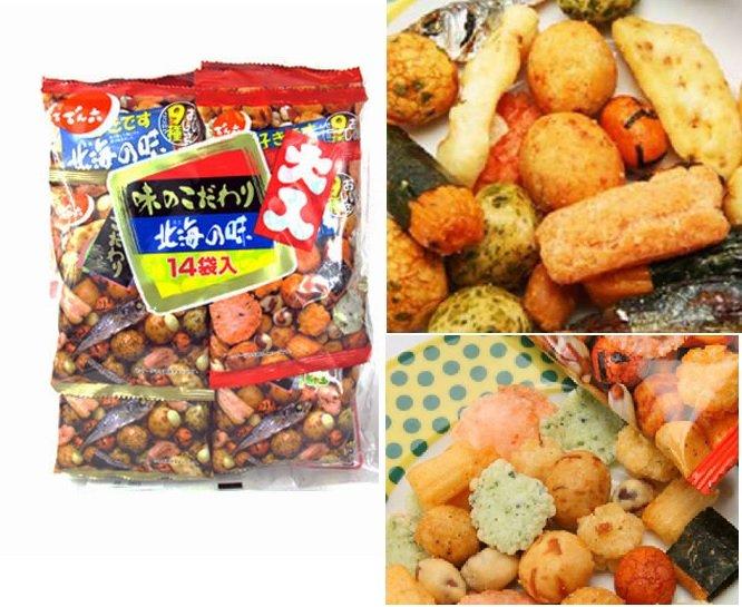 有樂町進口食品 天六 傳六 綜合豆果子(北海之味豆菓子) 1袋14入 4901930112046 1