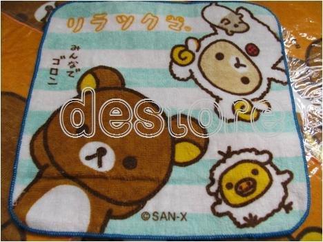 有樂町進口食品 拉拉熊 懶懶熊 手巾 小手帕 小毛巾 0