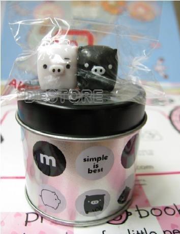 有樂町進口食品 日本黑白豬磁鐵罐~8號 - 限時優惠好康折扣