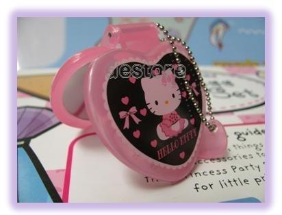 有樂町進口食品 日本 Hello Kitty 娃娃鏡子 手機掛飾鑰匙圈1 號 - 限時優惠好康折扣